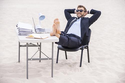 En vacances, point de trop de mails consulter il faut !