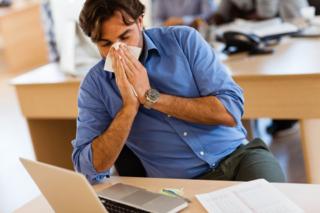 malade au bureau