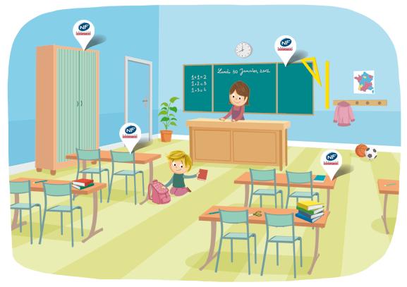 normes s curit hygi ne taille comment bien choisir le mobilier scolaire vive la vie au. Black Bedroom Furniture Sets. Home Design Ideas
