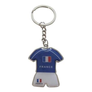Porte-cles-maillot-et-short-de-l-equipe-de-france